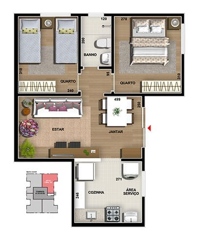 master-tower-topazio-apartamento-terreo-cozinha-americana