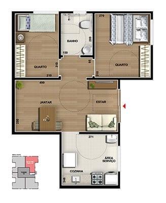master-tower-topazio-apartamento-terreo-pne-dois-quartos