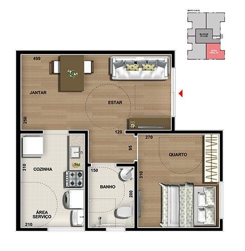 master-tower-topazio-apartamento-terreo-pne-um-quarto