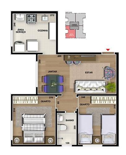 master-tower-topazio-apartamento-tipo-2