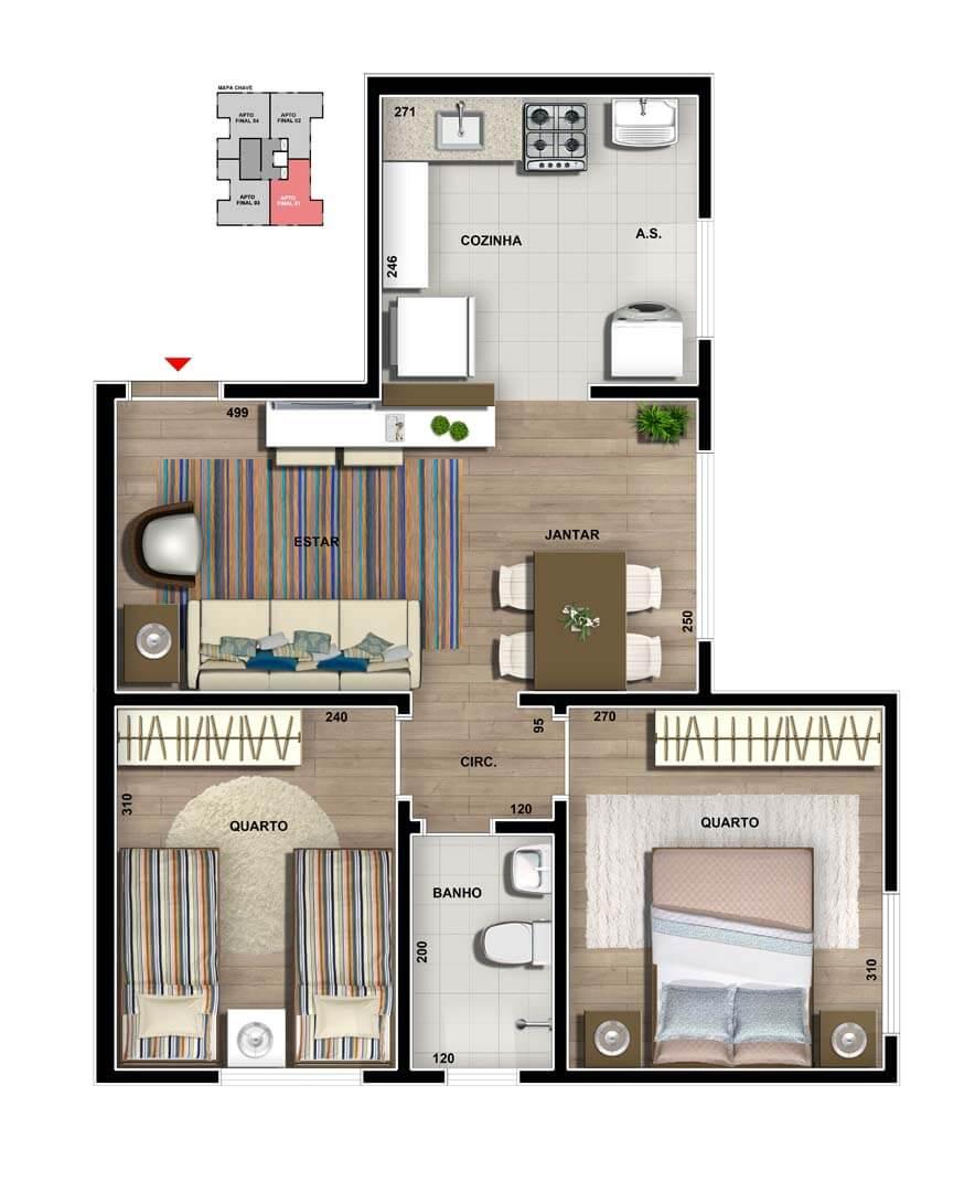 vic-engenharia-master-tower-paradiso-apartamento-tipo-cozinha-americana