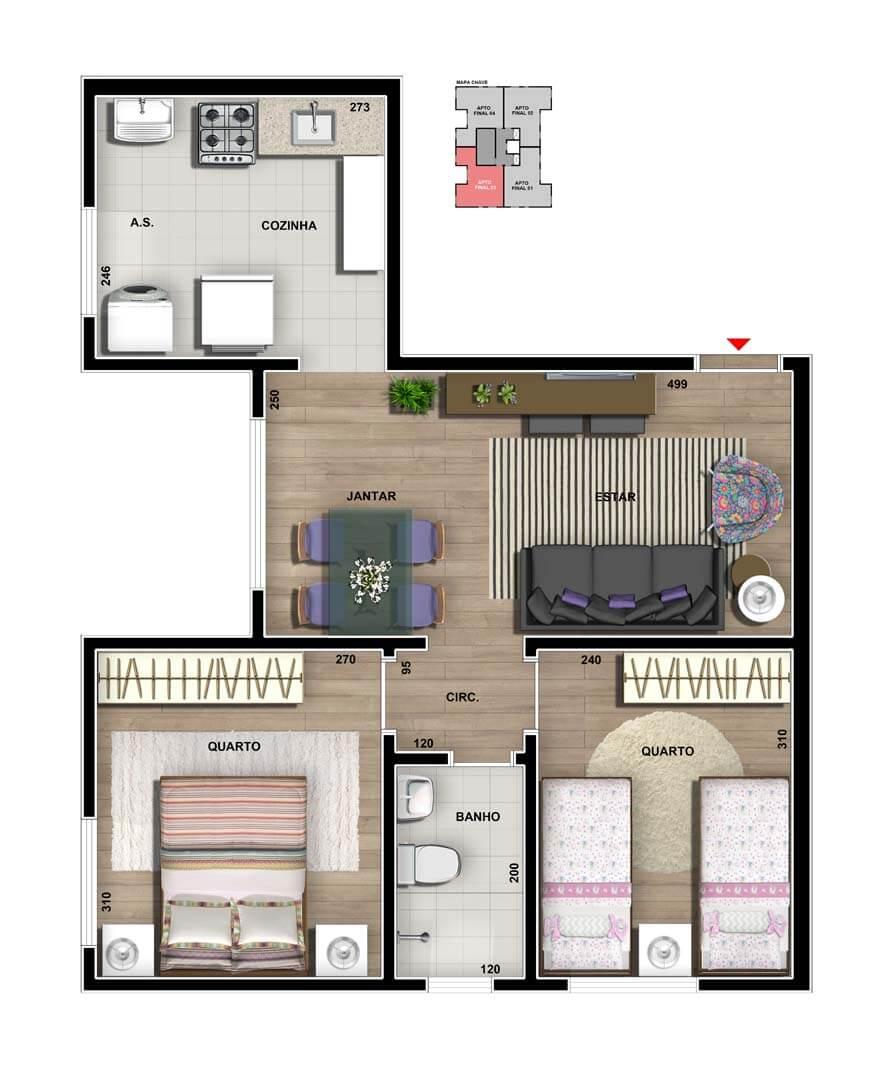 vic-engenharia-master-tower-paradiso-apartamento-tipo-cozinha-convencional