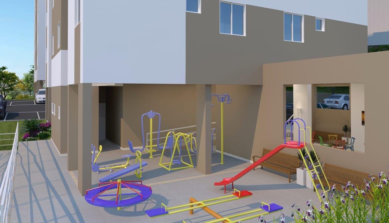 Playground e espaço fitness