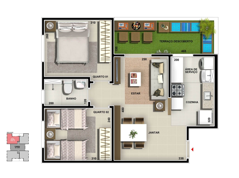 vic-engenharia-master-tower-sevilha-apartamento-terreo-cozinha-americana
