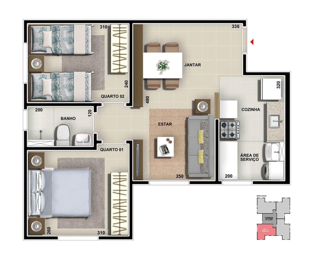 vic-engenharia-master-tower-sevilha-apartamento-tipo-cozinha-americana