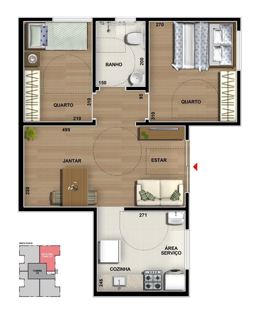 vic-engenharia-master-tower-topazio-apartamento-terreo-pne-dois-quartos