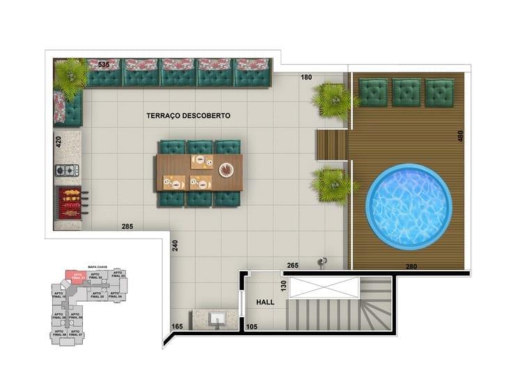 Apartamento tipo cobertura